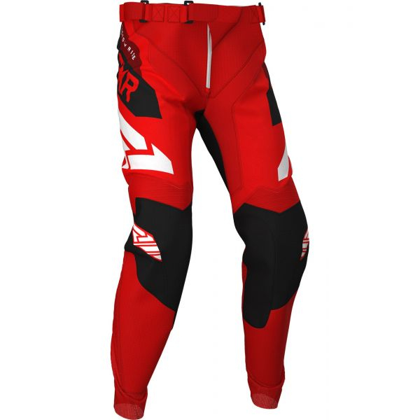 Pantaloni MX-Enduro FXR Pantaloni Podium MX Red/Black/Maroon 2020