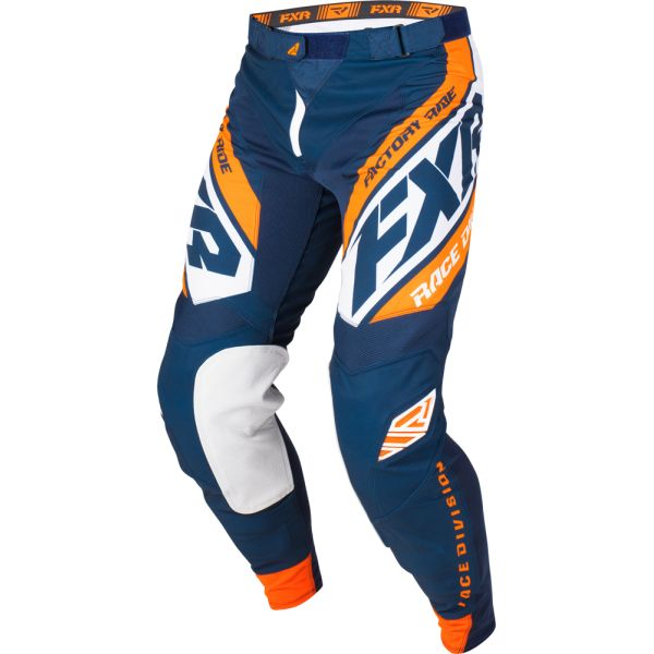 FXR LICHIDARE STOC Pantaloni Revo MX Dark Navy/White/Orange 2019