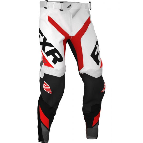 Pantaloni MX-Enduro FXR Pantaloni Revo MX White/Red/Char/Black 2020