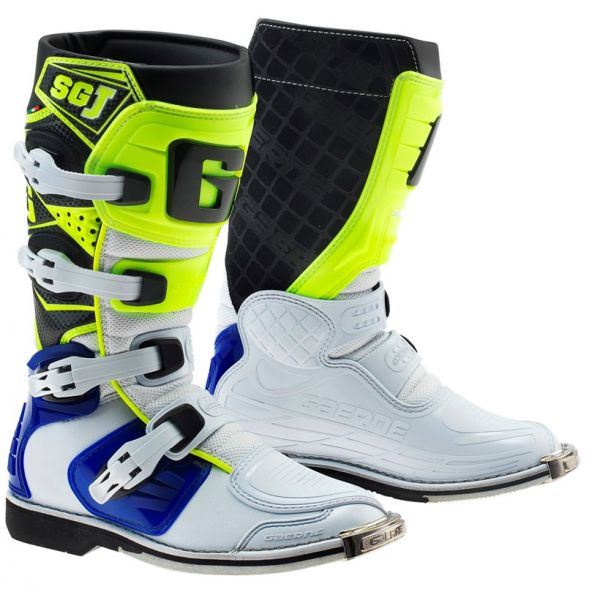 Cizme MX-Enduro Copii Gaerne Cizme SG-J White/Yellow Copii