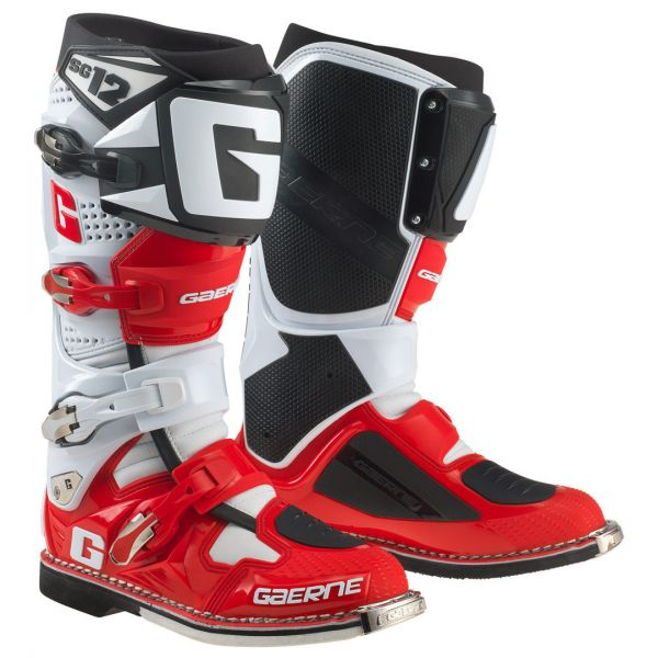 Cizme MX-Enduro Gaerne Cizme SG12 Limited Edition Red/White/Black