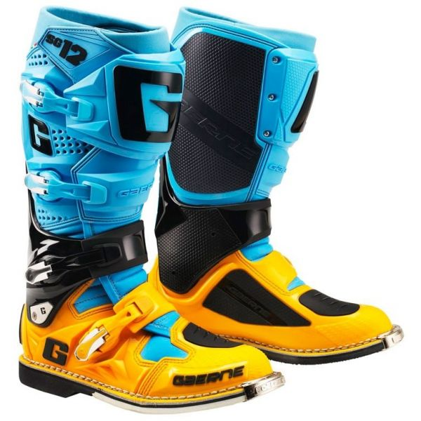 Cizme MX-Enduro Gaerne Cizme SG12 Powder Blue/Orange