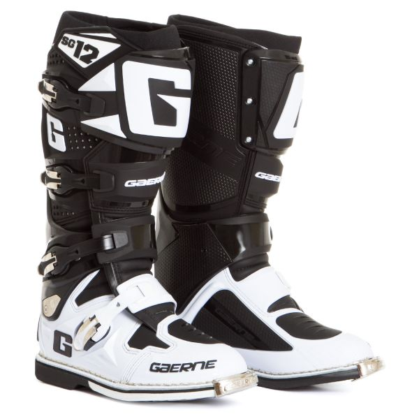 Cizme MX-Enduro Gaerne Cizme SG12 White/Black Limited Edition