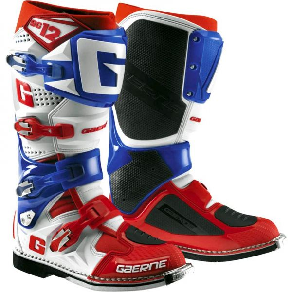 Cizme MX-Enduro Gaerne Cizme SG12 White/Blue/Red Limited Edition