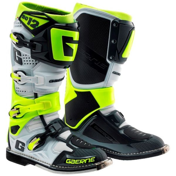 Cizme MX-Enduro Gaerne Cizme SG12 White/Gray/Yellow