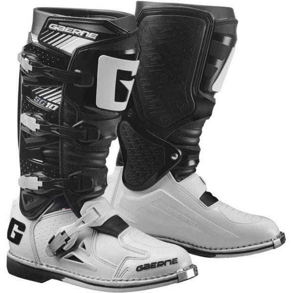 Cizme MX-Enduro Gaerne Cizme Moto MX SG10 Black/White 2021