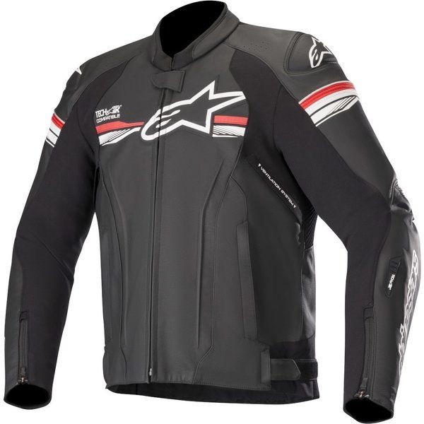 Geci Moto Piele Alpinestars Geaca Moto Piele GP R V2 TECH-AIR Compatible Black/White/Red