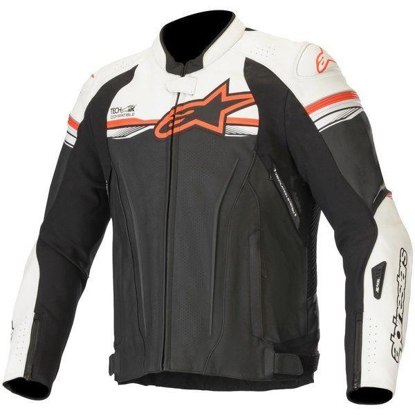 Geci Moto Piele Alpinestars Geaca Moto Piele GP R V2 TECH-AIR Compatible White/Black/Red