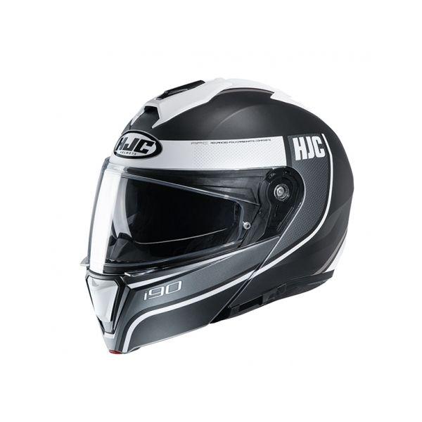 Casti Moto Flip-up (Modulabile) HJC Casca Flip-Up I90 Davan Alb 2020