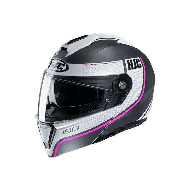 Casti Moto Flip-up (Modulabile) HJC Casca Flip-Up I90 Davan Roz 2020