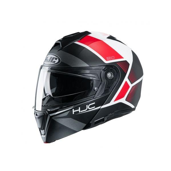 Casti Moto Flip-up (Modulabile) HJC Casca Flip-Up I90 Hollen Rosu 2020