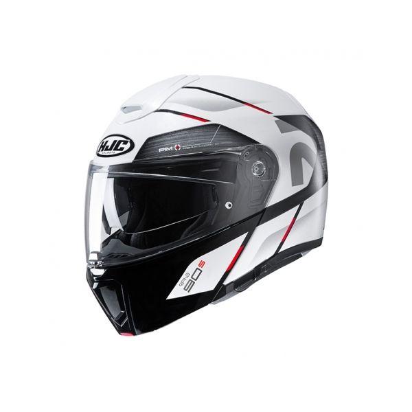 Casti Moto Flip-up (Modulabile) HJC Casca Flip-Up RPHA 90S Bekavo Alb 2020