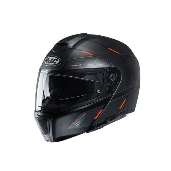 Casti Moto Flip-up (Modulabile) HJC Casca Flip-Up RPHA 90S Bekavo Negru 2020