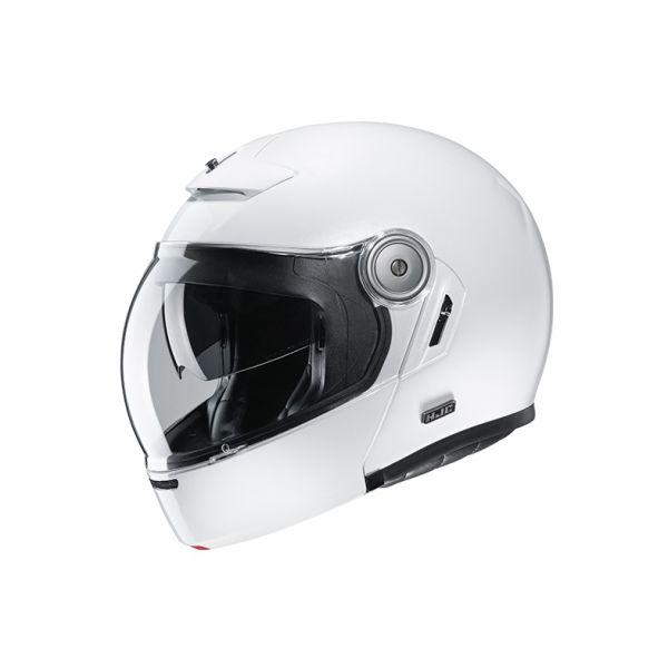Casti Moto Flip-up (Modulabile) HJC Casca Flip-Up V90 Solid Alb 2020