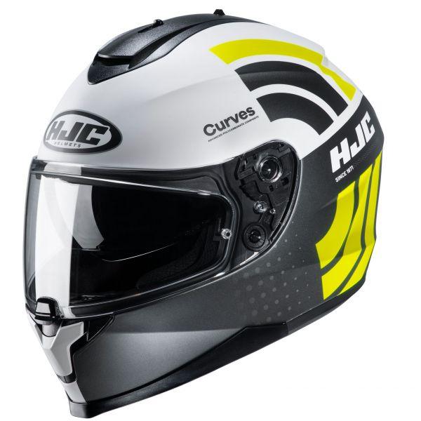 Casti Moto Integrale HJC Casca Moto Full-Face C70 Curves Yellow Fluo 2022