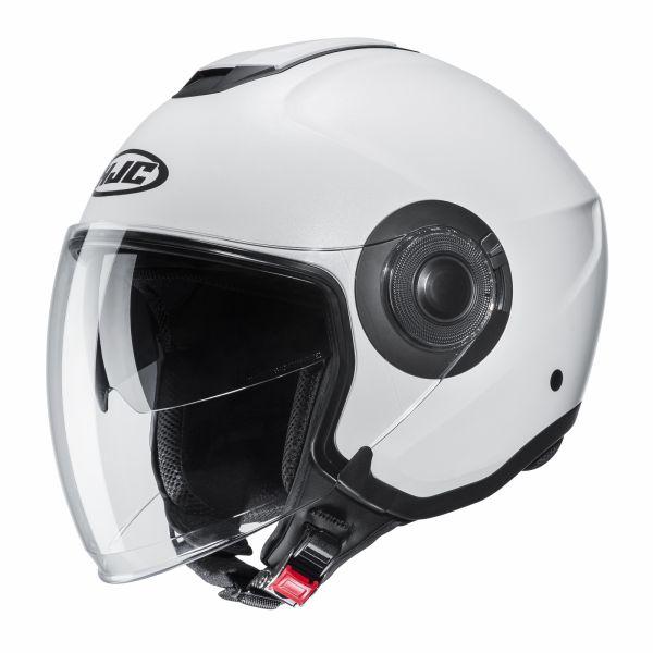 Casti Moto Jet (Open Face) HJC Casca Moto Jet i40 Solid Mat White 2022