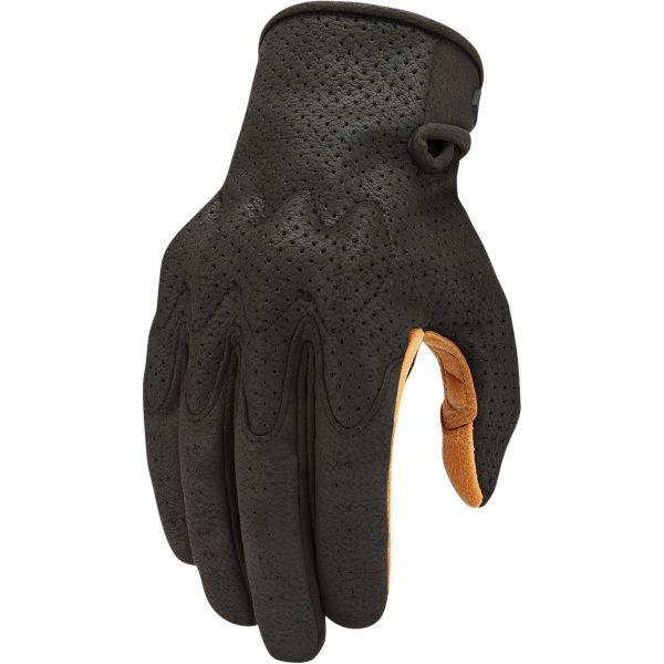 Manusi Moto Sport si Piele Icon Manusi Moto Piele Airform Ce Gloves Black/Tan 2021