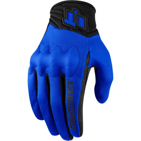Manusi Moto Sport si Piele Icon Manusi Moto Textile Anthem 2 Blue 2021