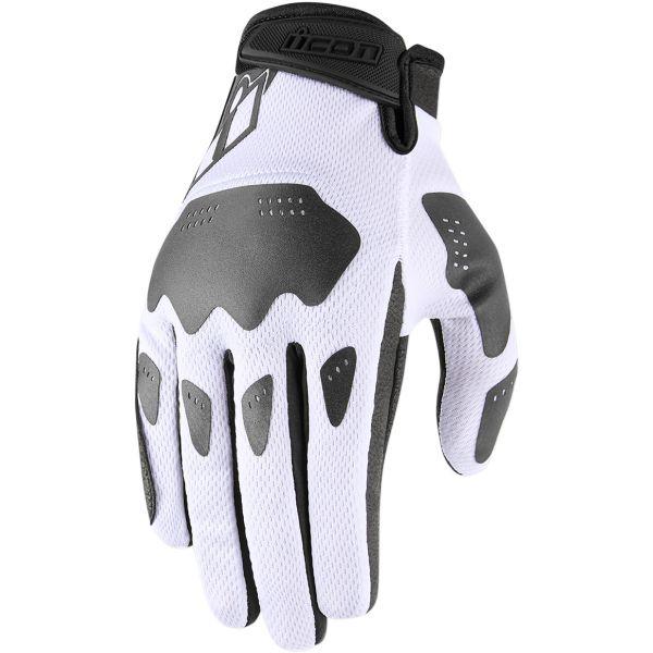 Manusi Moto Sport si Piele Icon Manusi Moto Textile Hooligan White 2021