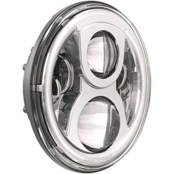 Faruri Moto LED J.W. SPEAKER Far LED Hdlight 8700Evo2Dual Fpdrl Chr