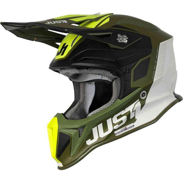 Casti MX-Enduro Just1 Casca MX J18 MIPS Pulsar Army Green/Black 2021