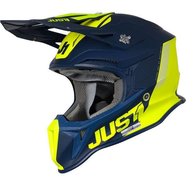 Casti MX-Enduro Just1 Casca MX J18 MIPS Pulsar Yellow Fluo/Blue 2021