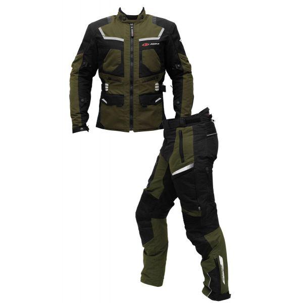 Combo Geaca/Pantalon ATV Jopa Combinezon ATV Geaca+Pantaloni Alpha Black/Green