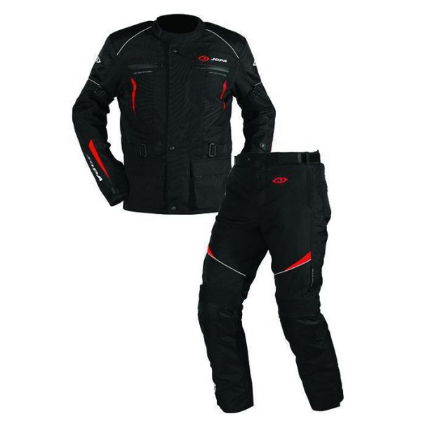 Combo ATV Jopa Combinezon ATV Omega V2 Geaca + Pantaloni Black/Red