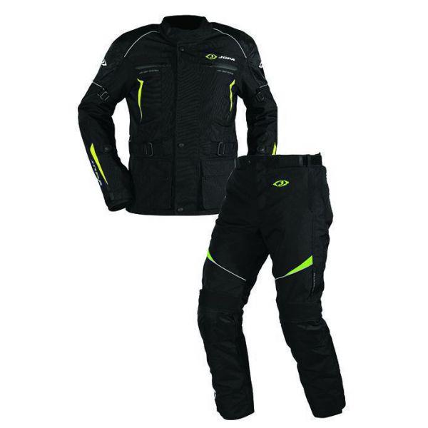 Combo ATV Jopa Combinezon ATV Omega V2 Geaca + Pantaloni Black/Yellow Fluo