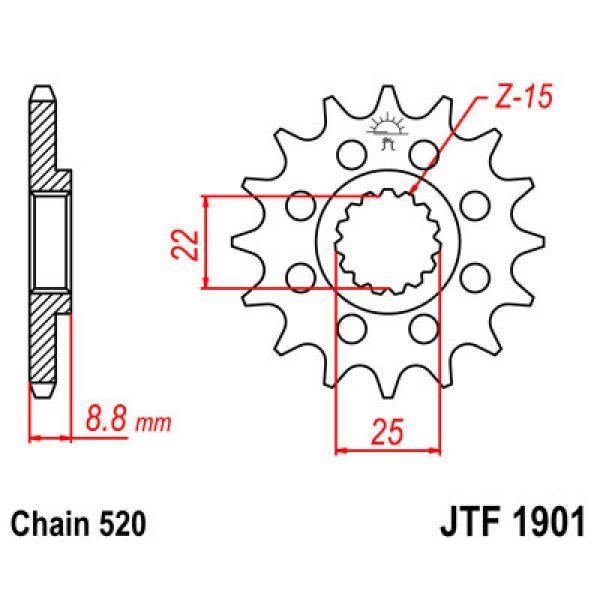 JT Sprockets JTF1901.16SC PINION FATA CU AUTOCURATARE 16 DINTI KTM/HUSQVARNA