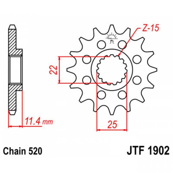 Kit de lant JT Sprockets LICHIDARE STOC Pinion Fata KTM 17 Dinti