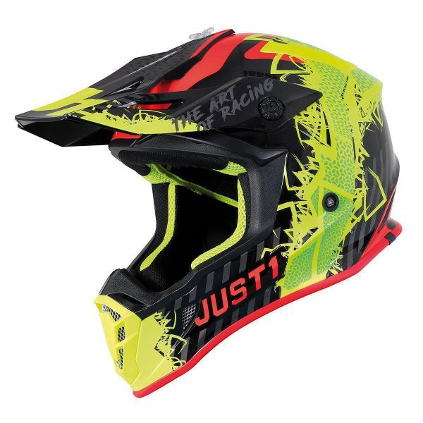 Casti MX-Enduro Just1 Casca MX J38 Mask Fluo Yellow/Red/Black 2021