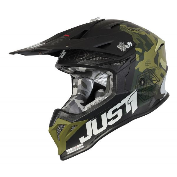 Casti MX-Enduro Just1 Casca MX J39 Kinetic Green Camo/Black 2021