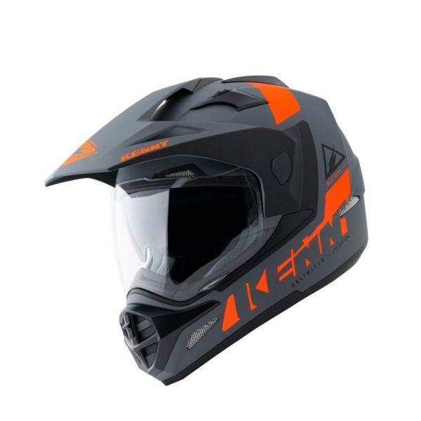Casti ATV Kenny Casca Moto ATV Extreme Matt Grey Orange 2021