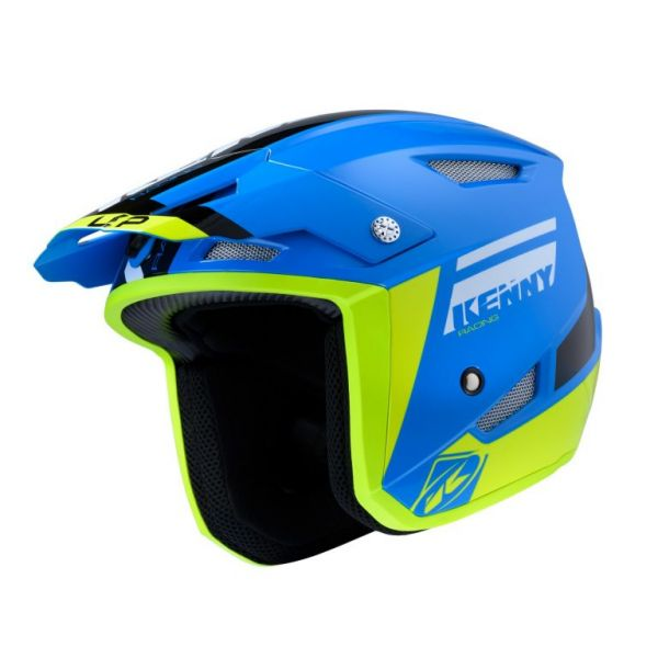 Casti Moto Jet (Open Face) Kenny Casca Moto Jet Trial Up Blue Neon Yellow 2020