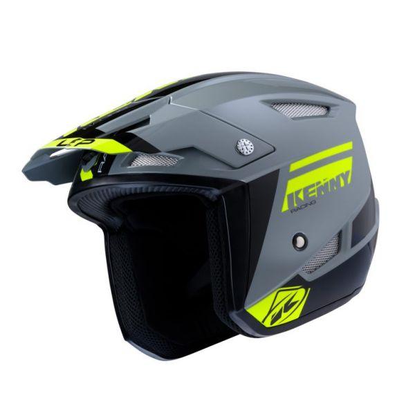 Casti Moto Jet (Open Face) Kenny Casca Moto Jet Trial Up Grey Neon Yellow 2020
