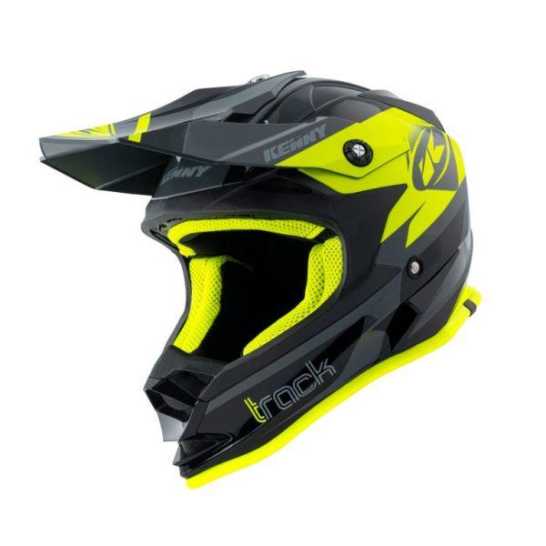 Casti MX-Enduro Copii Kenny Casca Moto MX Copii Track Black Neon Yellow 2021