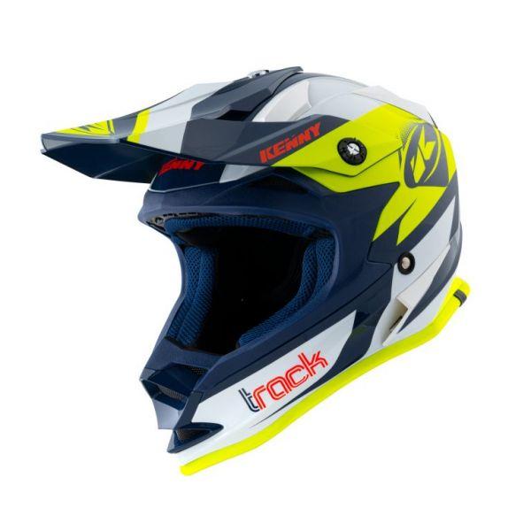 Casti MX-Enduro Copii Kenny Casca Moto MX Copii Track Navy Neon Yellow 2021