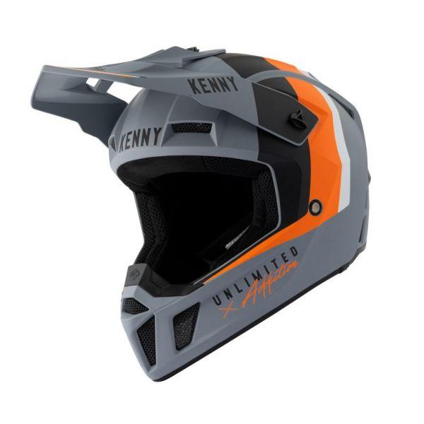 Casti MX-Enduro Kenny Casca Moto MX Performance Matt Grey Orange 2021