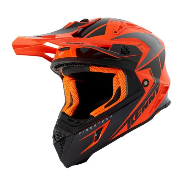 Casti MX-Enduro Kenny Casca Moto MX Titanium Orange Black 2021