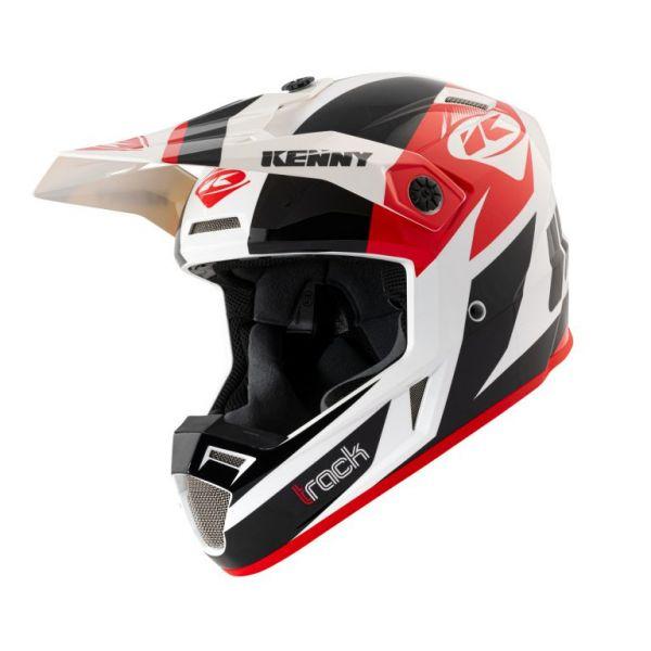 Casti MX-Enduro Kenny Casca Moto MX Track Black Red 2021