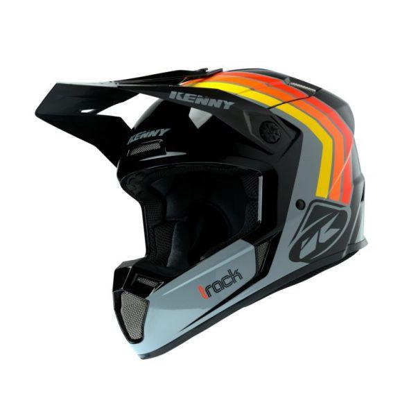 Casti MX-Enduro Kenny Casca Moto MX Track Victory Black Grey Orange 2020