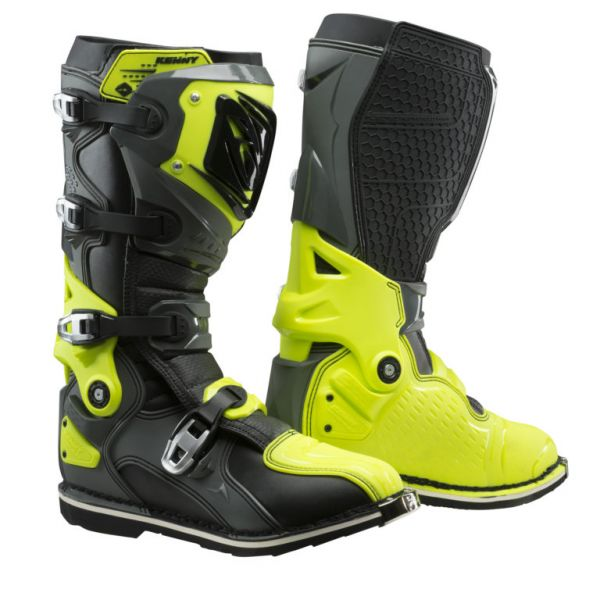 Cizme MX-Enduro Kenny Cizme Moto MX Titanium Grey Neon Yellow