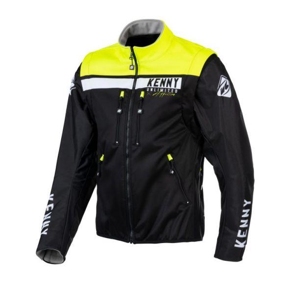 Geci Enduro Kenny Geaca Moto MX Softshell Enduro Black Neon Yellow 2021