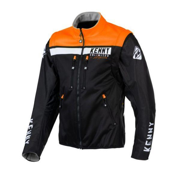 Geci Enduro Kenny Geaca Moto MX Softshell Enduro Black Orange 2021