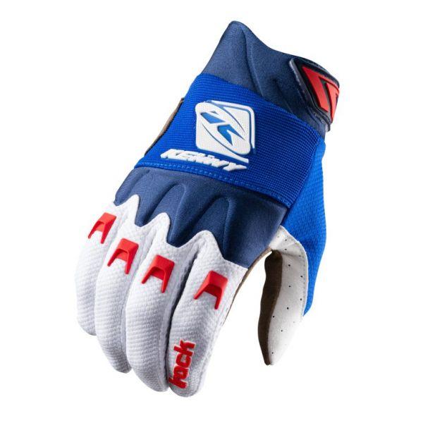 Manusi MX-Enduro Copii Kenny Manusi Moto MX Copii Track Blue White Red 2021