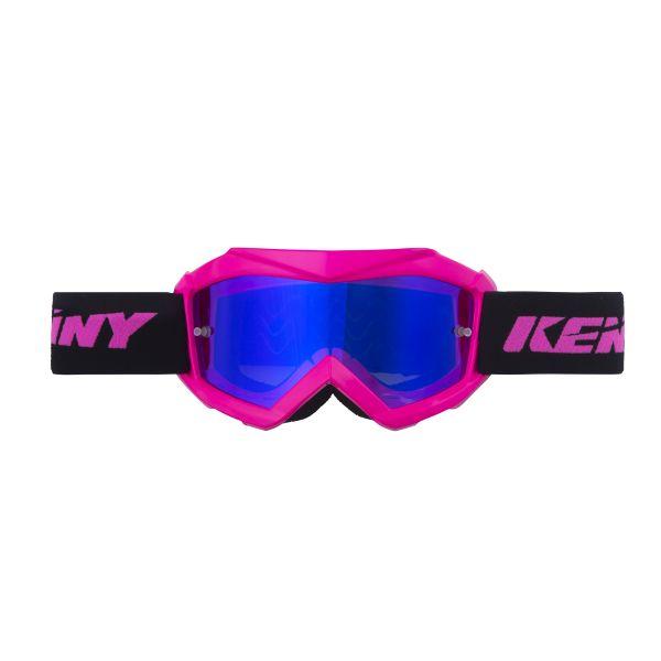 Ochelari MX-Enduro Copii Kenny Ochelari Copii Track Pink Lentila Oglinda Albastru
