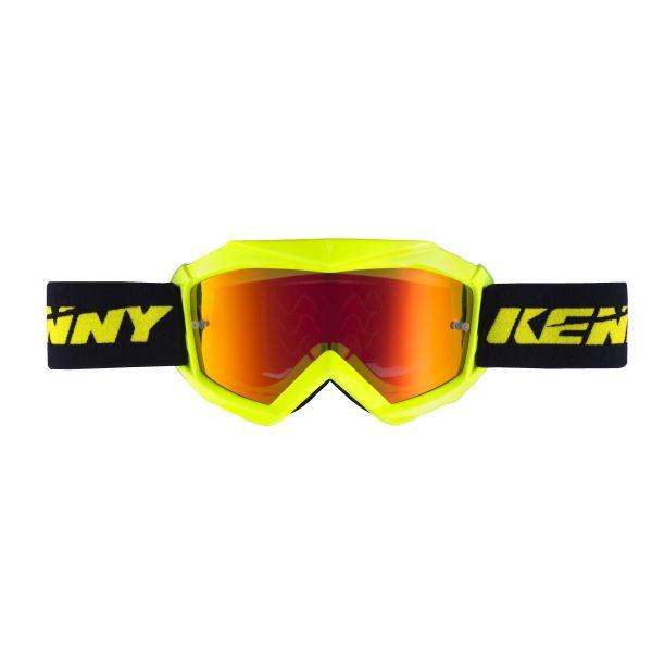 Ochelari MX-Enduro Copii Kenny Ochelari Copii Track Yellow Fluo Lentila Oglinda Portocali