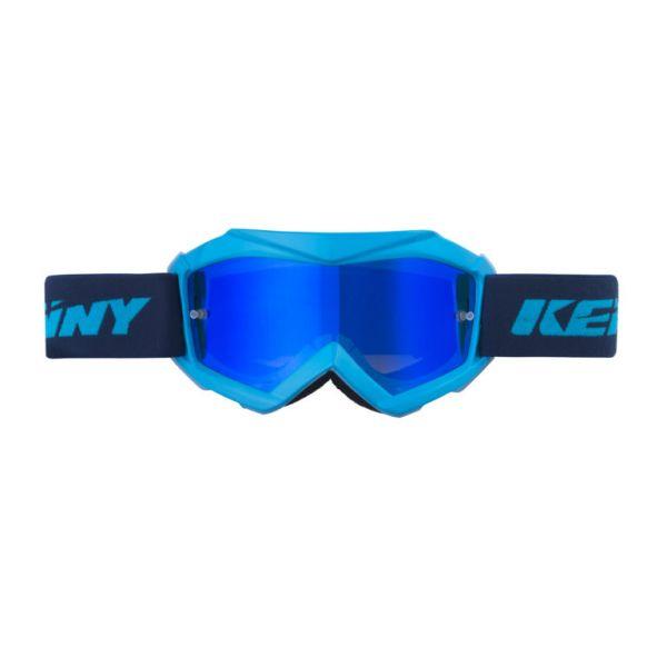 Ochelari MX-Enduro Copii Kenny Ochelari Moto MX Copii Track Cyan Lentila Oglinda Albastru