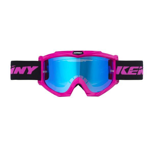Ochelari MX-Enduro Kenny Ochelari Track Neon Pink Lentila Oglinda